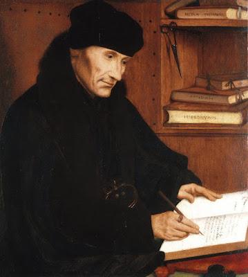 Ο Έρασμος, σε πίνακα του Quinten Massys / Desiderius Erasmus by Quinten Massys,1517