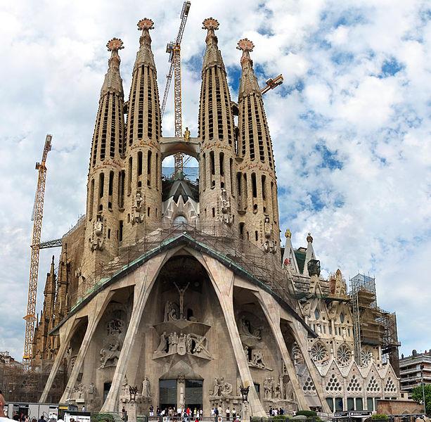 Sagrada Familia famous Barcelona cathedral