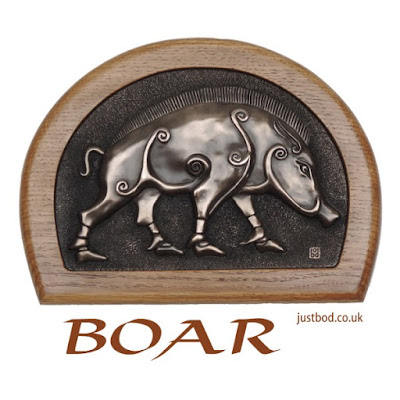 Pictish Boar Celtic Art Wall Plaque