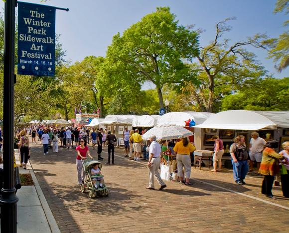 Winter Park Sidewalk Arts Festival em Orlando
