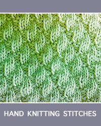 Learn Left Diagonal Rib Knit Purl Pattern with our easy to follow instructions at HandKnittingStitches.com