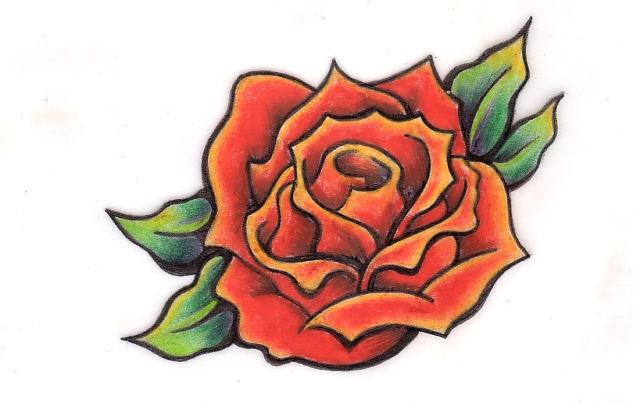swallow tattoo designs 4 a black rose with heart on o t tattoodonkey.com
