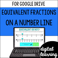 equivalent fractions on a number line worksheet