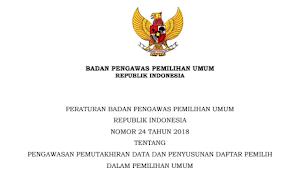 Download PERBAWASLU RI Nomor 24 Tahun 2018