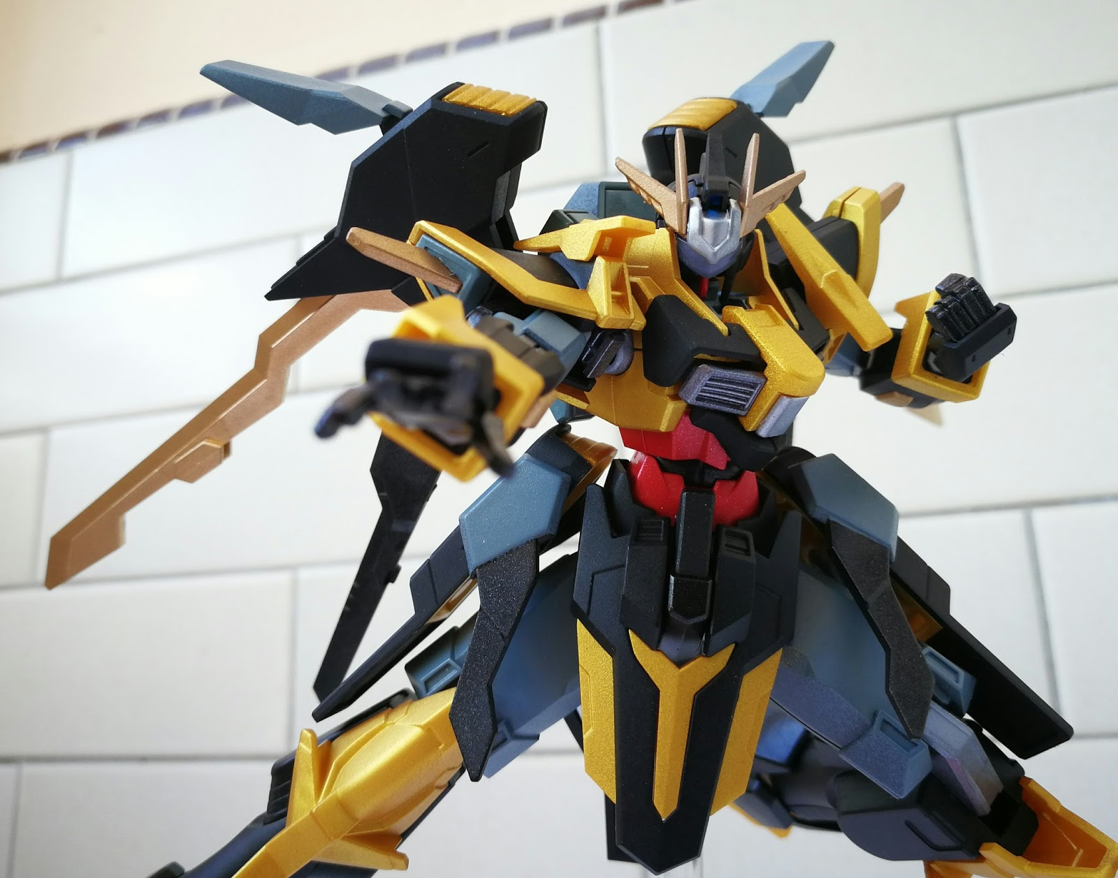 Gundam Schwarzritter GUNPLA HGBF High Grade 1//144 Build Fighters BANDAI