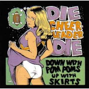 die cheerleader die down with pom poms upt the skirts 2003