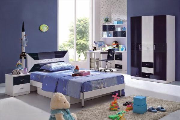 dormitorio color azul niño