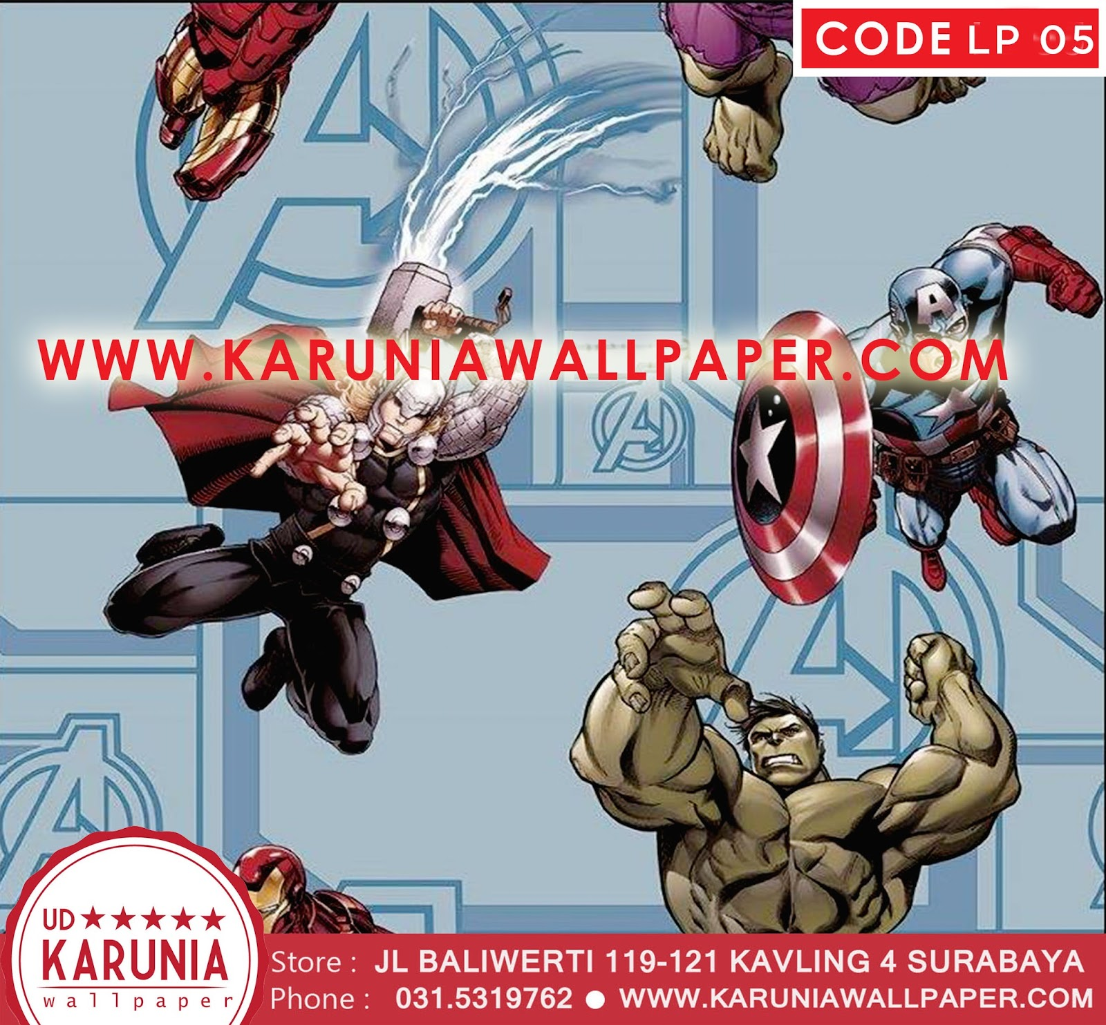 jual wallpaper superhero murah