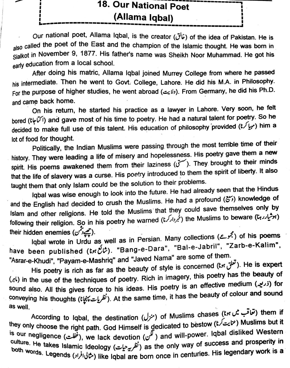 my class essay our natioanal poet allama iqbal essay in english our natioanal poet allama iqbal essay in english for primary to essay on allama iqbal in why my class