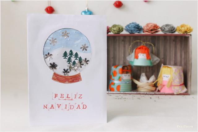 postal-navidad-diy-materiales-reciclados-bola-cristal-shaker-card