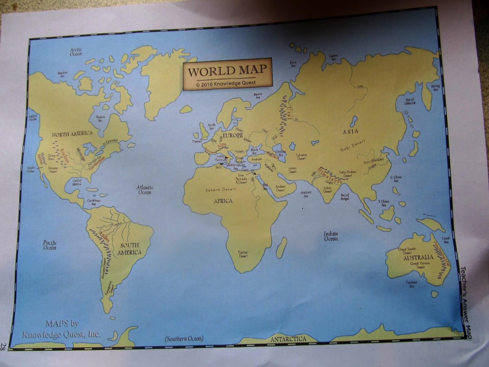Schoolhouse Review Crew Knowledge Quest Map Trek