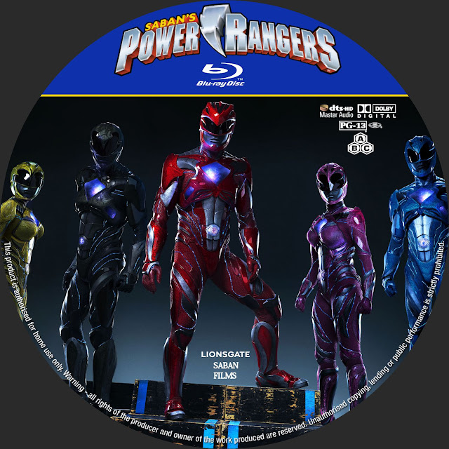 Label Bluray Power Rangers