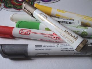 Marcadores para pintar en diferentes superficies
