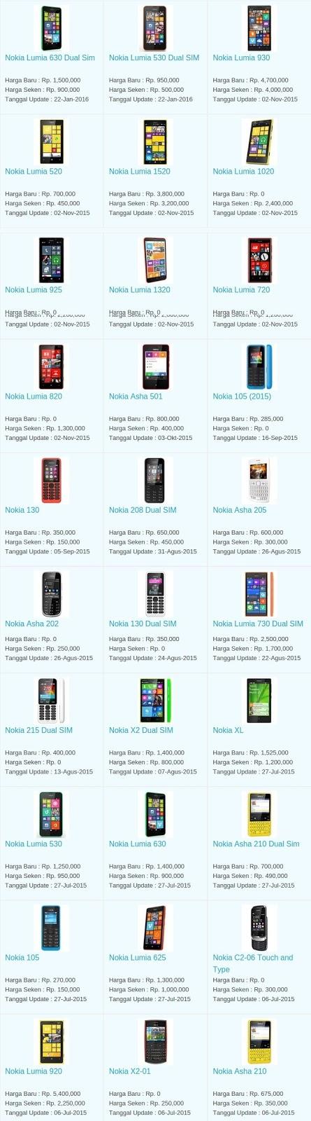Daftar Harga Hp Terbaru Nokia Juni 2016