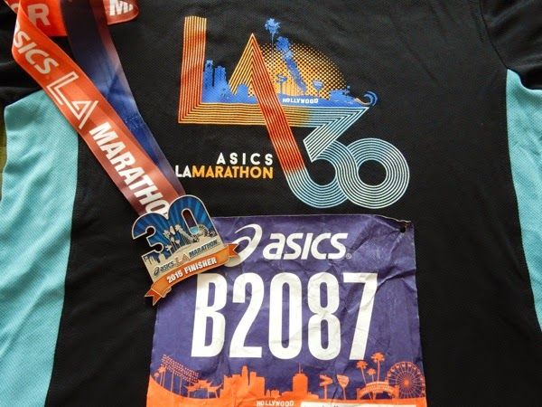 30th LA Marathon shirt 2015 finisher medal