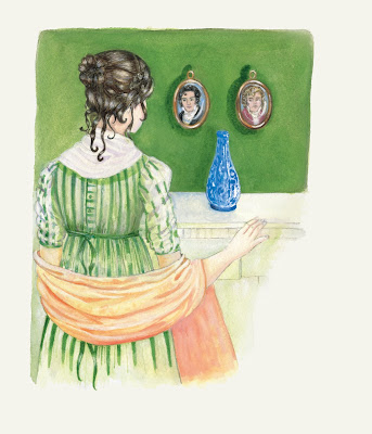 Lizzy Bennet on her tour of Pemberley by Jane Odiwe   from Be More Jane by Sophie Andrews © CICO Books