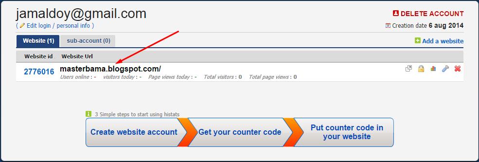Cara Mendaftarkan Blog Di Histats Dan Cara Memasangnya  Cara Daftar dan Pasang Histats Pada Blogger