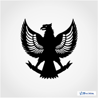 Garuda Pancasila silhouette Logo Vector cdr