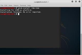 Mengembalikan Grub Kali Linux
