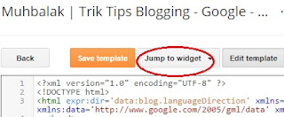 jump to widget blogspot