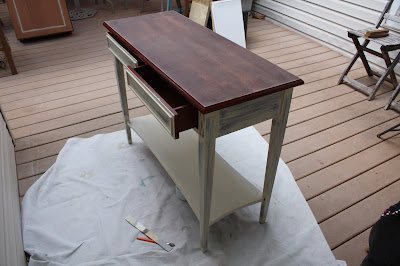 Painting sofa table