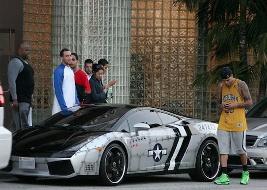Chris Brown Cars: Chris Brown's Jet Fighter New Design Graffiti Lamborghini