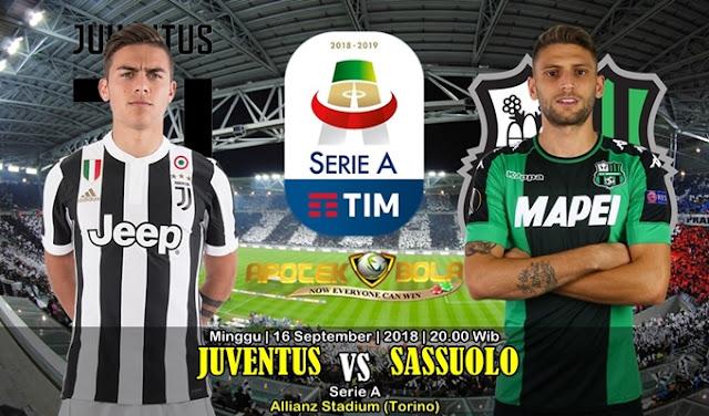 Prediksi Juventus vs Sassuolo 16 September 2018