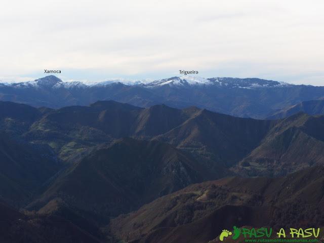 Vista del Trigueiro y la Xamoca desde el Niañu