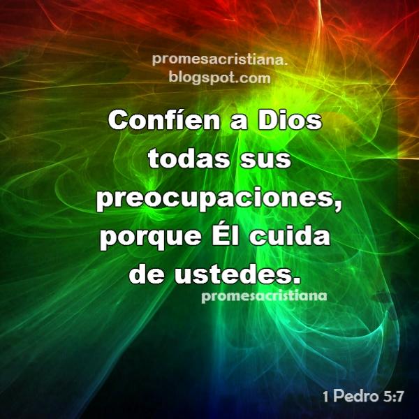 Versiculos Biblicos De Promesas De Dios: Promesa Cristiana Confíen A Dios Sus Preocupaciones