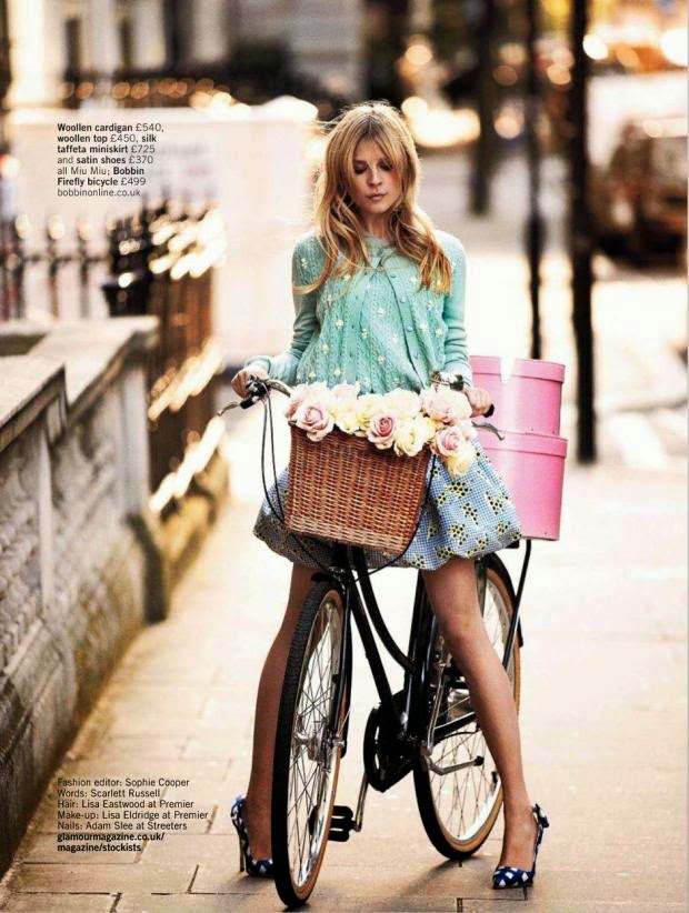 French actress and style icon Clemence Poesy in Glamour UK editorial