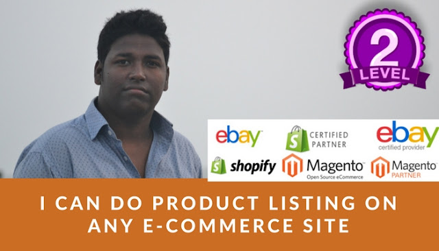 I will add 100 product listing on eBay, shopify and Magento