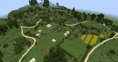 minecraft hobbiton build map aerial