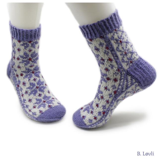strikkeoppskrift på sokker - Stjerneranke