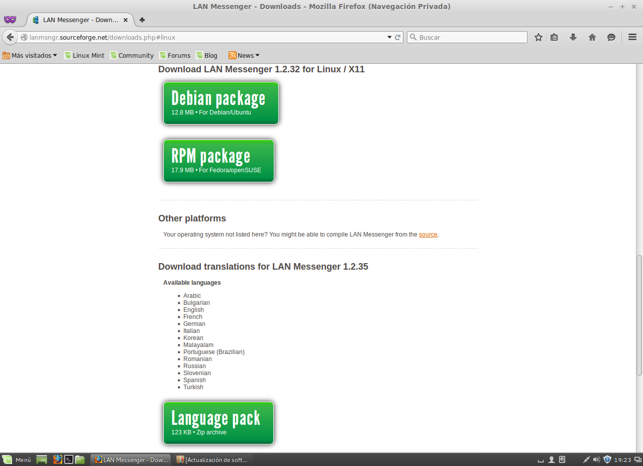 Cirel Ramos: Lan Messenger ubuntu/linux mint