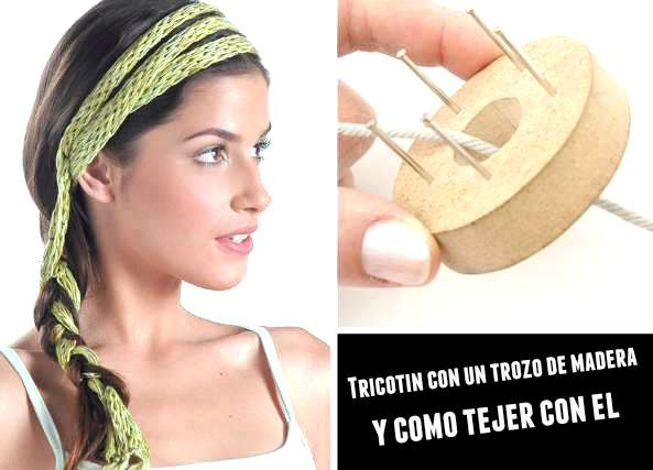 Tricotin con un trozo de madera y como usarlo