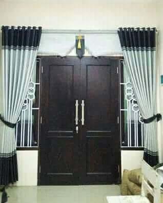 gambar model gorden pintu minimalis modern terbaru