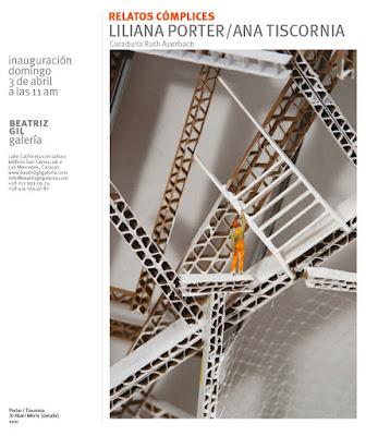 """Exposición """"Relatos cómplices"""" Liliana Porter y Ana Tiscornia en Beatriz Gil Galería, Las Mercedes"""
