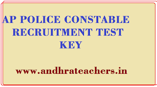 AP Police Constable Official Answer Key @slprb.ap.gov.in