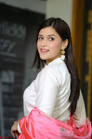Mannara Chopra in Silky White Salwar Suit with Pink Chunni Latest Exclusive Pics March 2017 ~  023.JPG