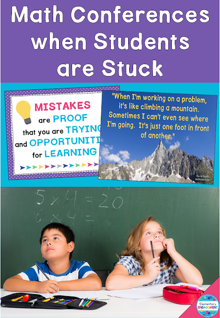 This posts shares strategies for math conferences when students are stuck.