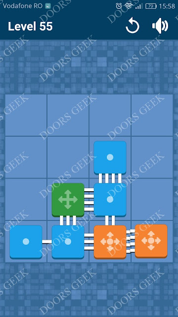Connect Me - Logic Puzzle Level 55 Solution, Cheats, Walkthrough for android, iphone, ipad and ipod