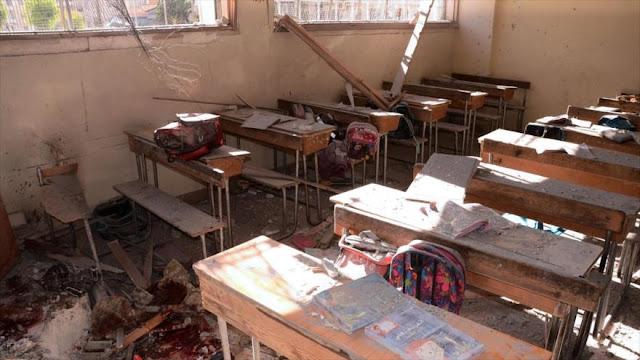 """Mueren siete niños en ataque de """"rebeldes"""" a una escuela en Alepo"""