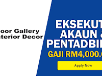 Jawatan Kosong di KK Floorcovering Resources - Eksekutif Akaun & Pentadbiran / Gaji RM4,000.00++