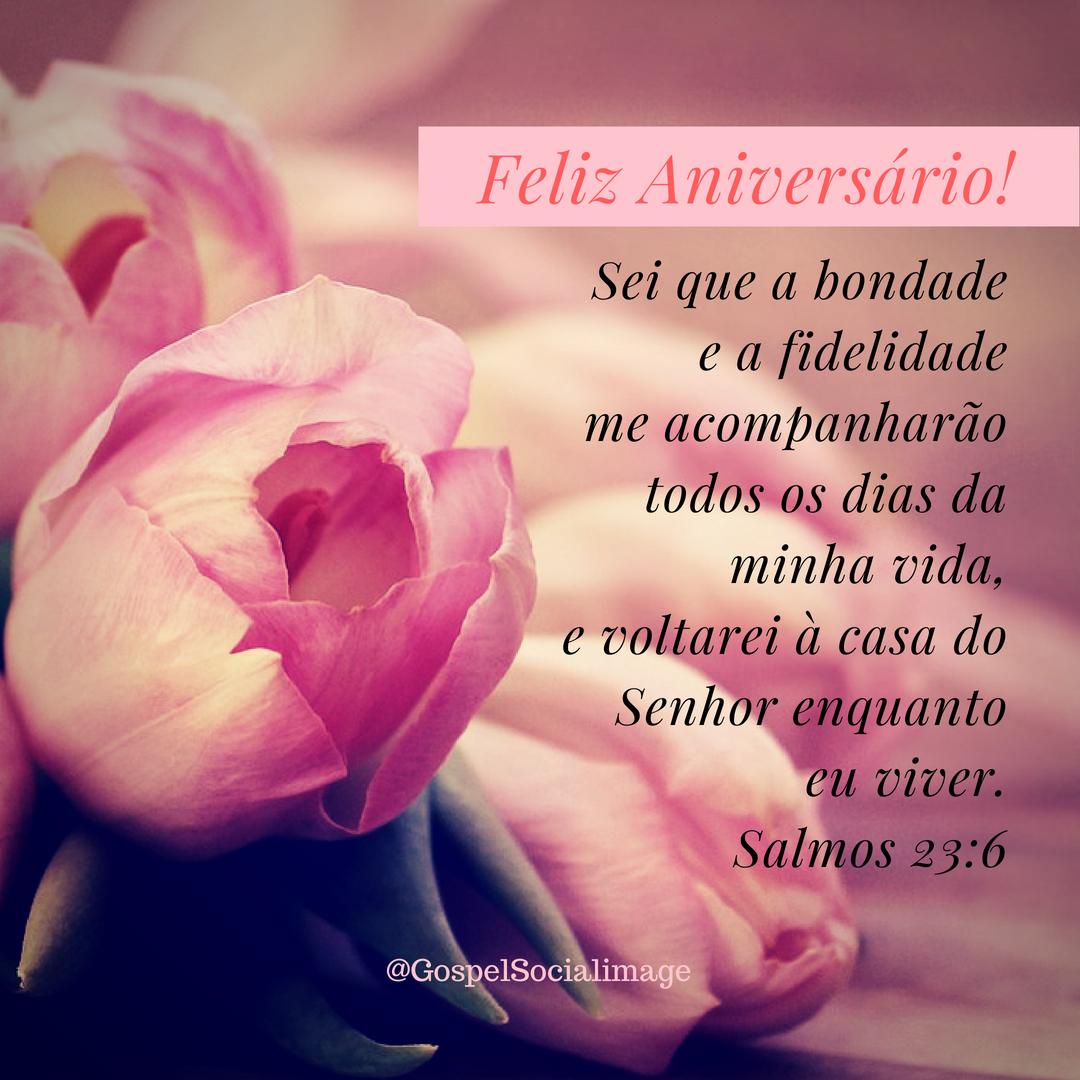 Imagem Bíblica de Aniversário Salmos 23.6