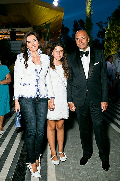 Igor Cool with his wife Olga and daughter