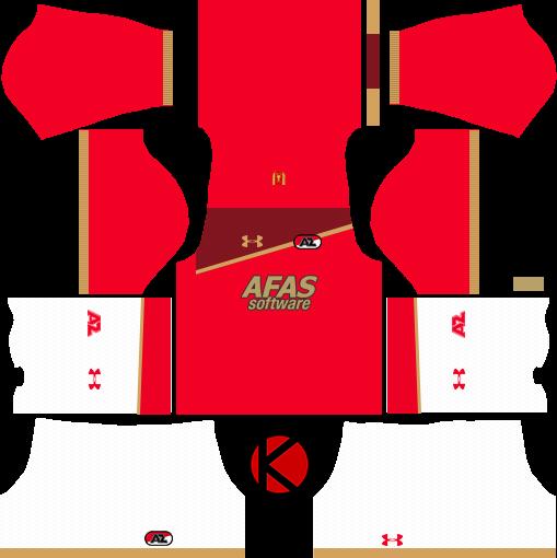 AZ Alkmaar Kits 2017/18 - Dream League Soccer