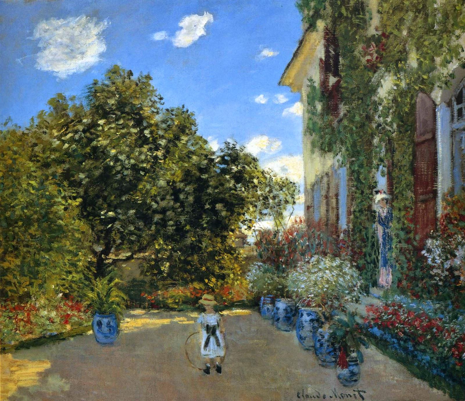 Casa do Artista em Argenteuil -  Pinturas de Monet Claude | O Pai do Impressionismo
