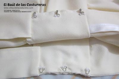 Confección chaqueta kaftán Aris Agoriuq de El Tiempo entre Costuras cierres de garfio o gafetes
