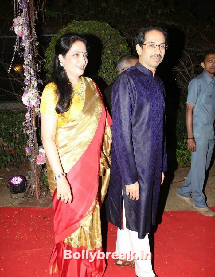 Rashmi Thackeray, Uddhav Thackeray, Ahana Deol Wedding & Reception Pics
