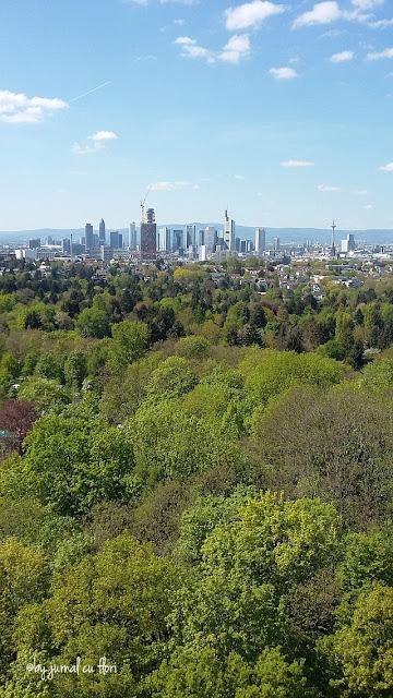 Frankfurt vazut din Goetheturm